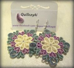 my quilling earrings:) find me on facebook! #quillczyki