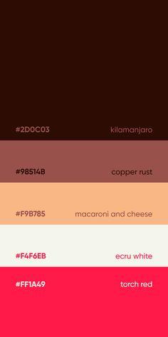 Flat Color Palette, Colour Pallette, Color Palate, Couleur Hexadecimal, Web Colors, Colours, Good Color Combinations, Design Palette, Color Psychology