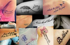 Pictures : Cool Small Tattoos for Girls - Quote Tattoo Designs For Girls