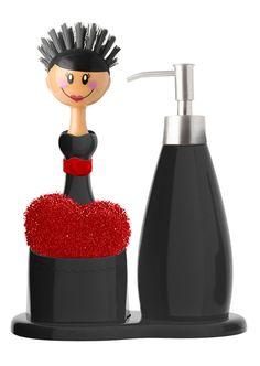 Set de fregadero con dosificador para jabón- Vigar-Janet servicios de limpieza. Set sink with soap dispenser-Vigar-Janet