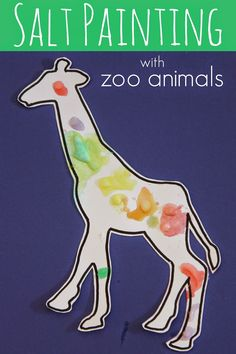Toddler Approved: Zoo Animal Salt Painting for Kids—a mess free activity!
