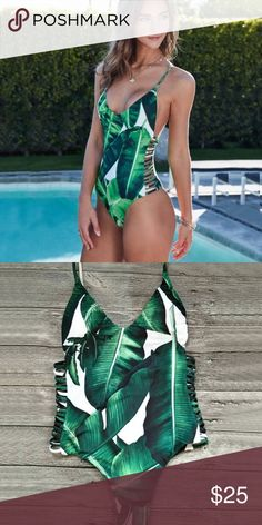 ‼️Coming soon‼️ Tropical islander one- piece Tropical palm leaves one piece💋 Coming Soon‼️ Please feel free to ask questions or request updates ⬇️ brand for exposure Twilight Gypsy Collective Swim One Pieces