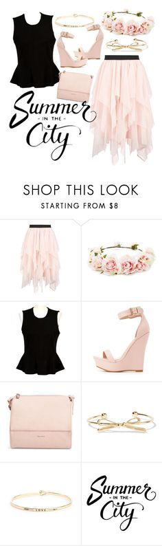 """""""Summer in the city"""" by sylvania-dark on Polyvore featuring Boohoo, Forever 21, French Connection, Charlotte Russe, Pixie Mood, Kenneth Jay Lane, South Moon Under, summertime, pinkandblack and citystyle"""