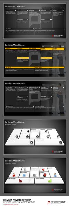 PowerPoint Business Model Canvas #presentationload www.presentationl...