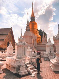 Thailand Travel | Thailand Temple | Explore Thailand | Chaing Mai | Thailand Travel Guide | Travel Photography | Girls Who Travel Chaing Mai Thailand, Thailand Travel Guide, Burj Khalifa, Temple, Sunrise, Travel Photography, Explore, Girls, Toddler Girls