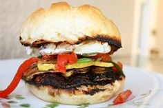 Grilled Portabella and Brie Burgers