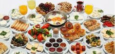 Turkish breakfast, which is nearly identical to an Arabic one (Ottoman influence? A veritable smorgasbord of deliciousness. Turkish breakfast, which is nearly identical to an Arabic one (Ottoman influence? Turkish Breakfast, Breakfast Plate, Best Breakfast, Breakfast Ideas, Turkish Eggs, Turkish Tea, Turkish Kitchen, Alanya Turkey, Turkish Recipes