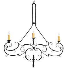 Hand forged iron chandelier by www.haciendalights.com