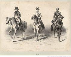 Les trois Napoléon, de g. à dr. :