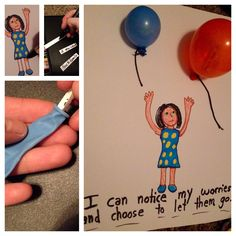 Worry balloons! Great for teaching children mindfulness to let go of triggers, anxiety, and other life troubles.