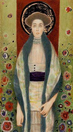 La reine d'écus - Tarot de Klimt par A. Atanassov     Queen of Pentacles