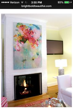 Colorful Artwork as a Focal Point in a Room