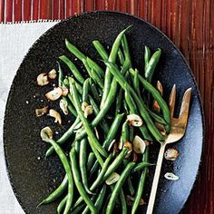 Green Beans with Toasted Garlic   MyRecipes.com