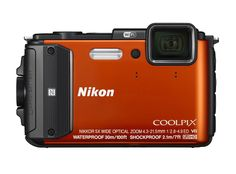 Nikon Coolpix AW130 Shock & Waterproof GPS Digital Camera (Orange) - International Version. Waterproof, Shockproof and Freezeproof. 16.0 Megapixels. Built-in Wi-Fi and Near Field Communication Technology (NFC). Full HD 1080p videos. 5-axis Hybrid Vibration Reduction (VR).