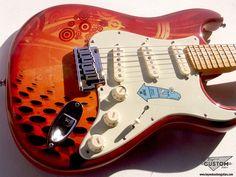 Fender Stratocaster with Customwork by www.beyondcustomguitars.com