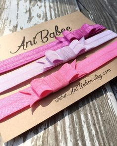 Baby Headband - Bow Headbands - Baby Girl Headbands - Newborn Headband  - 4th of July headbands - Fold Over Elastic
