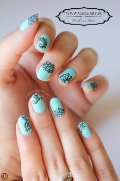 Nail art designs and ideas for different types of nails like, long nails, short nails, and medium nails. Check out more all Nail art designs here. Lace Nail Art, Lace Nails, Henna Nails, Pretty Nail Art, Beautiful Nail Art, Simple Nail Art Designs, Nail Designs, Nail Art Dentelle, Jolie Nail Art