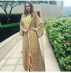 Chiffon abaya with dress under
