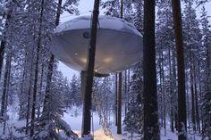 Tree Hotel in Harads, Norrbotten, Sweden. www.treehotel.se :)