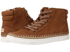 UGG Gradie Espadrille Hi Top Sneaker nubuck chestnut, antique white, black sz7.5 119.95 6/16