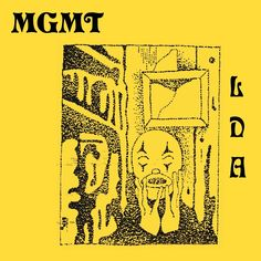 """Connecticut rock band MGMT are releasing their fourth studio album Little Dark Age February The band's name on the cover is set in Pretorian. The album's title is abbreviated to """"LDA"""", shown in stacked caps from Eckmann. Music Albums, Music Books, Cool Album Covers, Music Covers, Dark Ages, Oracular Spectacular, All New Songs, Pochette Album, Minimalist Movie Posters"""