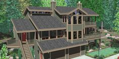 7 Front View House Plans Rear And Panoramic Plans For Lot With A Inspiring Design Ideas