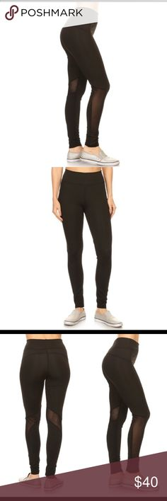 BLACK YOGA SPORT MESH LEGGINGS HIGH WAIST  GREAT ELASTIC BAND FOR MORE SUPPORT  FIGURE FLATTERING 90 POLYESTER 10 SPANDEX  LEG MESH PANELS  BREATHABLE AND SWEAT CONTROL  A MUST HAVE IN YOUR CLOSET, A PERFECT MATCH WITH ANY SPORTS BRAND AND TANK TOP OR CROP TOP.  ONE SIZE FITS SMALL TO MEDIUM  ONE SIZE FITS LARGE TO EXTRA LARGE WITH NO PROBLEM. Sugar Punch Couture Pants Leggings
