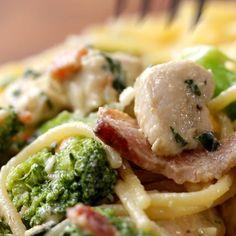 Chicken Bacon Broccoli Alfredo Recipe by Tasty