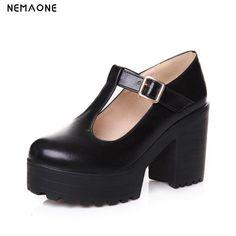 NEMAONE nueva moda zapatos de mujer zapatos de plataforma de tacones altos  gruesos zapatos de mujer 26eb7376995b