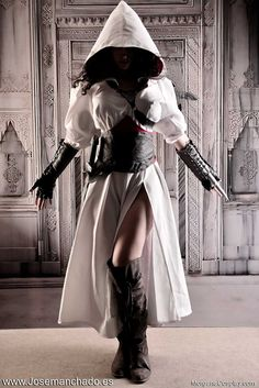 Assassin's Creed Syndicate is released in Spain!! by Morganita86 female assassin thief rogue punching dagger boots robe hood armor clothes clothing fashion player character npc | Create your own roleplaying game material w/ RPG Bard: www.rpgbard.com | Writing inspiration for Dungeons and Dragons DND D&D Pathfinder PFRPG Warhammer 40k Star Wars Shadowrun Call of Cthulhu Lord of the Rings LoTR + d20 fantasy science fiction scifi horror design | Not Trusty Sword art: click artwork for source