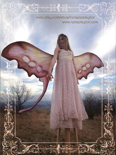 Extra Large Moon Moth/ Swallowtail Fairy Wings by renaeleataylor, $250.00