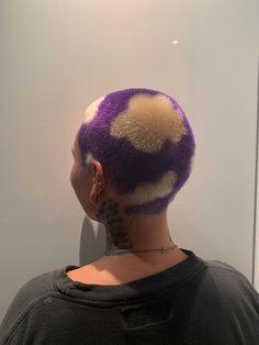 Hair Colour Design, Hair Color, Buzzed Hair Women, Shaved Head Designs, Red Hair Looks, Bald Hair, Aesthetic Hair, Shaved Hair, Hair Art