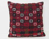 kilim pillow 24x24 pillow cover 24x24 couch pillow large sofa pillow urban fabric cotton pillow case primitive home decor pillow case 28856