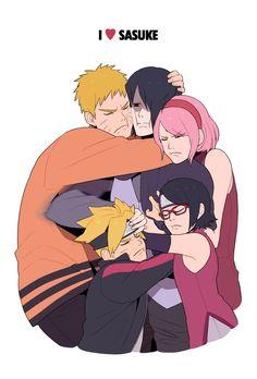 Sasuke, Naruto, Sakura, Boruto, Sarada | Naruto