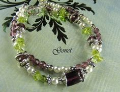 Gemstone Bracelet Lady Fair Heather Collection by Gonet by Gonet