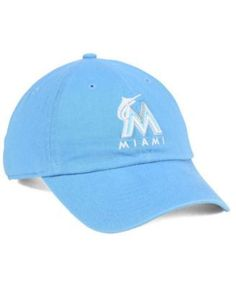 356555d5586  47 Brand Women s Miami Marlins Powder Blue White CLEAN UP Cap Men - Sports  Fan Shop By Lids - Macy s
