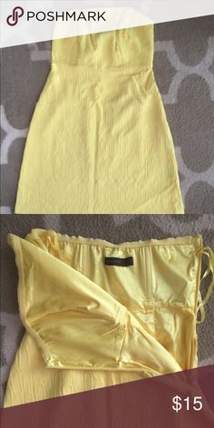 The Limited dress Size 0 dress from The Limited. Excellent condition, worn one time. Bright yellow, super fun short dress. Structured top, side zipper. The Limited Dresses Strapless
