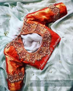Blouse Back Neck Designs, Blouse Designs Silk, Bridal Blouse Designs, Maggam Work Designs, Saree Blouse, Instagram, Wedding, Valentines Day Weddings, Sari Blouse