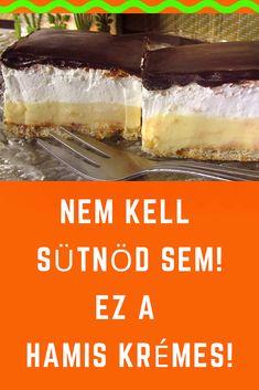Mindenki szereti, de ez most egy újragondolt egyszerű változat! Hungarian Desserts, Hungarian Recipes, Healthy Desserts, Easy Desserts, Cookie Recipes, Dessert Recipes, Sprout Recipes, Creative Food, No Bake Cake