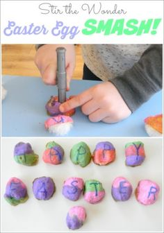 Easter Egg Smash is a fun, fine motor activity that toddlers and preschoolers are sure to love! Plus they are inexpensive and easy to make with everyday supplies you have at home!
