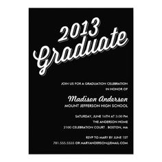 RETRO 2013 | GRADUATION PARTY INVITATION