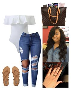 A fashion look from May 2017 featuring high rise skinny jeans and strappy shoes. Browse and shop related looks. Swag Outfits For Girls, Cute Swag Outfits, Teenager Outfits, Mom Outfits, College Outfits, Teen Fashion Outfits, Simple Outfits, Everyday Outfits, Chic Outfits