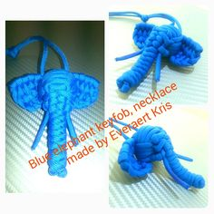 Elephant paracord keyfob, necklace made by Everaert Kris