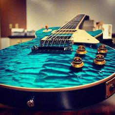 Love that blue quilted maple finish