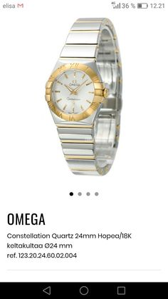 Omega Constellation, Constellations, Bracelet Watch, Quartz, Watches, Lady, Accessories, Wristwatches, Star Constellations