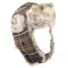 Urban Pipeline Brown Plaid Trapper Winter Hat for Men - Faux Fur One Size Urban Pipeline http://www.amazon.com/dp/B009RV1LN8/ref=cm_sw_r_pi_dp_u3cpub0J723R0