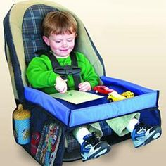 A unique and innovative product for families on the go. Snack & Play Travel Tray was created out of necessity for today's children. Snack & Play Travel Tray enhances the driving experience by providing a flat, safe area for children to eat and Kids Travel Games, Toddler Travel, Travel With Kids, Travel Ideas, Road Trip Activities, Road Trip Games, Road Trips, Airplane Activities, Travel Tray
