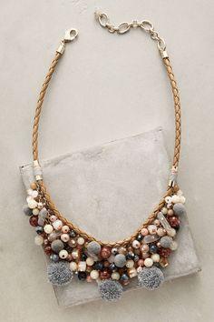 at anthropologie Pommed Bib Necklace