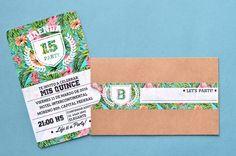 Tarjetas de 15 florales y divertidas 1 Sweet 15, Ideas Para Fiestas, Girly Things, Party Invitations, Creative, Cards, Oregon, Google, 15 Years