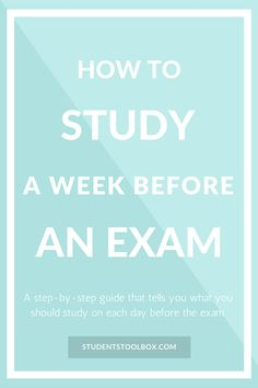 """Is your exam only a week away? Don't worry, we have got you covered.As an extension of the post """"The Best Ways to Prepare for Final Exams"""", we are here to give a step-by-stepguide on how to study for exams in a weekas suggested by one of our readers.  In fact, how to study for"""